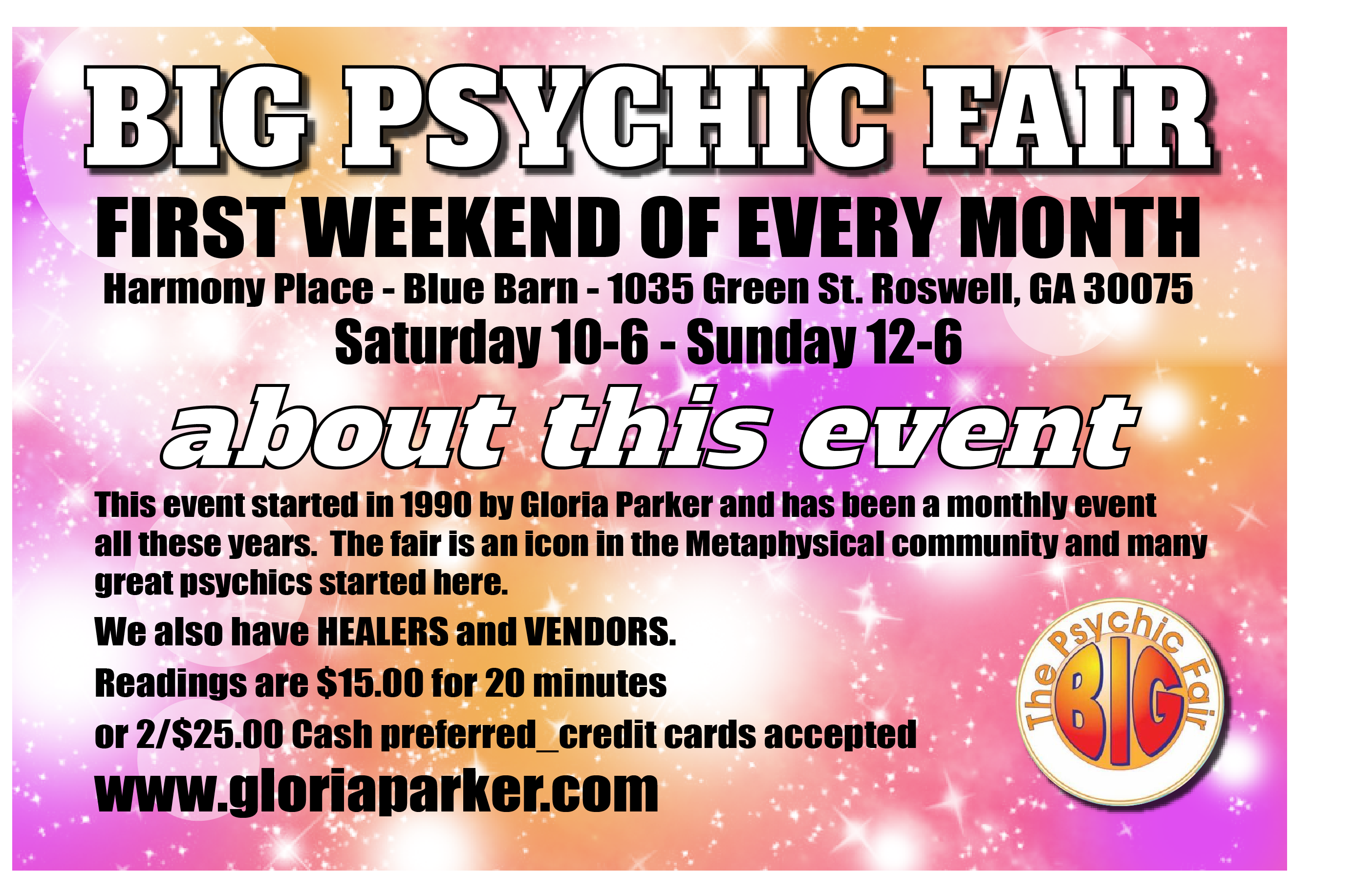 Big Psychic Fair Cards